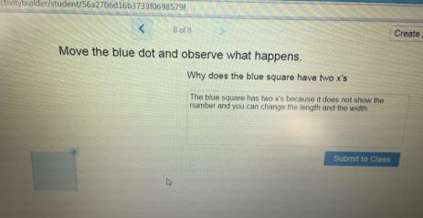 Algebra tile response