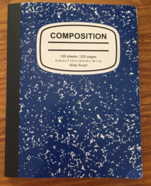 Blue composition book