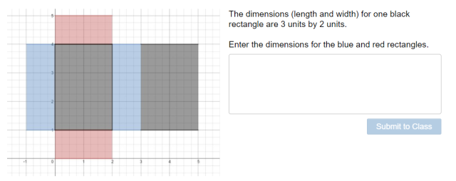 A two dimensional net of a rectangular prism