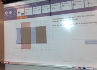 Slide 1 from the activity showing a 2-dimensional net for a rectangular prism.